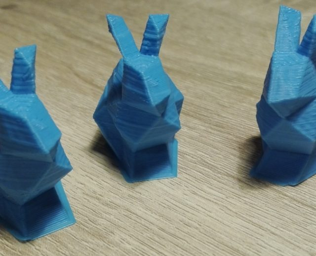 Wydruk 3d Kraków trzy króliki